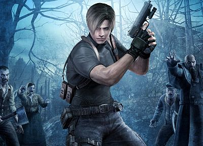 video games, zombies, Leon, Resident Evil 4 - related desktop wallpaper