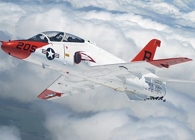 clouds, aircraft, skyscapes, McDonnell Douglas, McDonnell Douglas-BAe T-45 - related desktop wallpaper