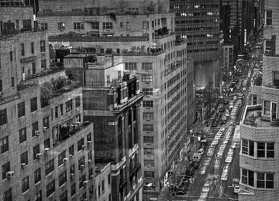 cityscapes, New York City, grayscale, monochrome, York - related desktop wallpaper