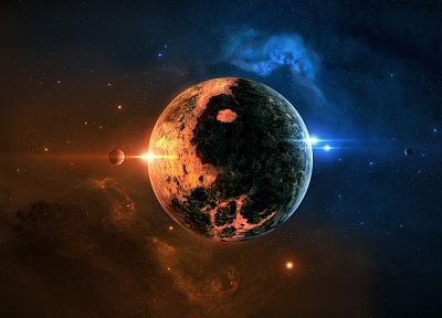 outer space, stars, galaxies, planets, digital art, skyscapes, JoeJesus, Josef Barton - related desktop wallpaper
