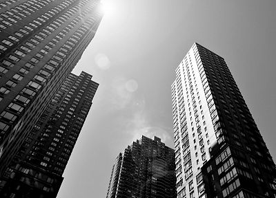 black and white, cityscapes, architecture, buildings, skyscrapers - related desktop wallpaper