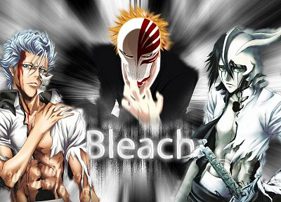 Bleach, Kurosaki Ichigo, Espada, Grimmjow Jaegerjaquez, Hollow Ichigo, Ulquiorra Cifer - related desktop wallpaper