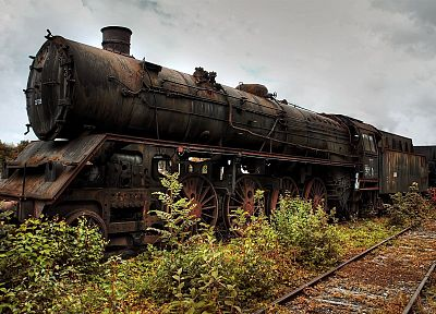 landscapes, trains, rusted, locomotives - random desktop wallpaper