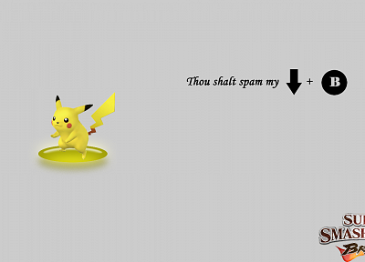 Pikachu, Super Smash Bros - random desktop wallpaper