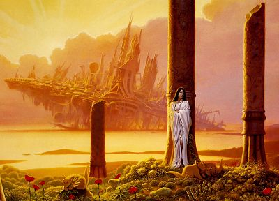 pillars, Michael Whelan - random desktop wallpaper