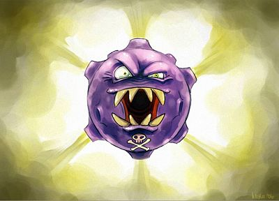 Pokemon, Koffing - random desktop wallpaper