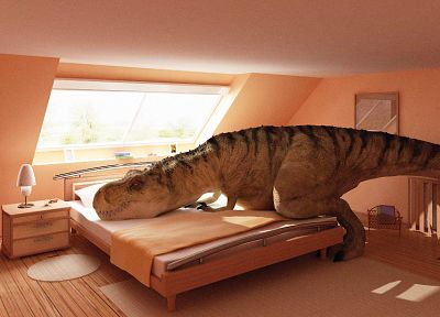 dinosaurs, bedroom, Tyrannosaurus Rex - related desktop wallpaper