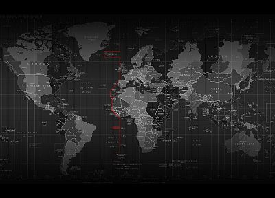 dark, maps, countries, atlas, time zones, world map, cities - random desktop wallpaper