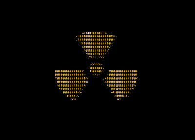 radioactive, ascii, radiation symbol - random desktop wallpaper
