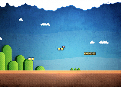 video games, Super Mario - related desktop wallpaper