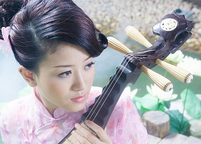 music, China, Chinese, Asians, instruments, PIPA - random desktop wallpaper