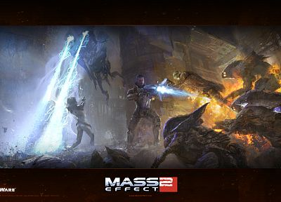 video games, BioWare, Mass Effect 2, Commander Shepard - related desktop wallpaper