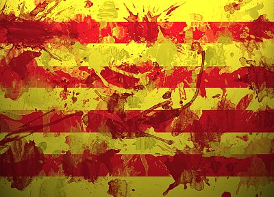 flags, Spanish, Spain, catalunya - random desktop wallpaper