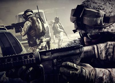 video games, war, weapons, Battlefield 3 - related desktop wallpaper