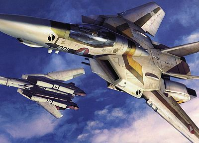 aircraft, Macross, robotech, artwork, VF-1 Valkyrie - related desktop wallpaper