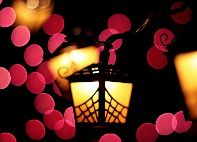 abstract, lanterns, bokeh - random desktop wallpaper