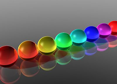 abstract, glass, balls, glass art - random desktop wallpaper
