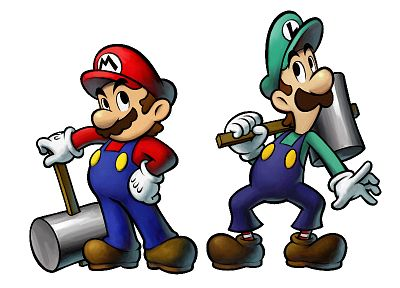 Mario, Luigi - random desktop wallpaper