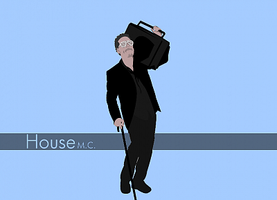 Gregory House, Boombox, House M.D. - desktop wallpaper