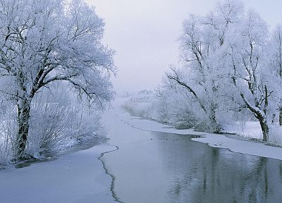 ice, landscapes, snow, white, rivers - related desktop wallpaper