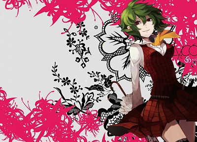 Touhou, green hair, Kazami Yuuka, games - desktop wallpaper