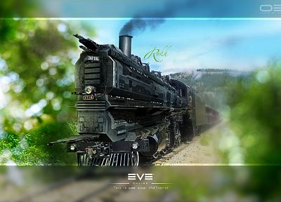 steam, EVE Online, trains, caldari, vehicles, rokh - desktop wallpaper