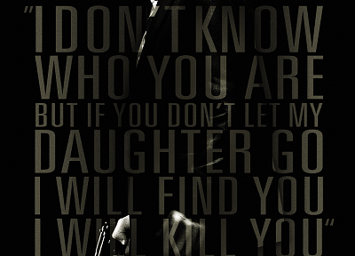 Liam Neeson, movie posters, Taken (Movie) - random desktop wallpaper