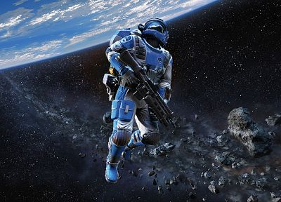 video games, outer space, planets, rocks, astronauts, Shattered Horizon - related desktop wallpaper