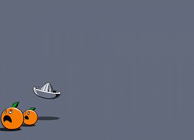minimalistic, orange, funny, oranges - desktop wallpaper