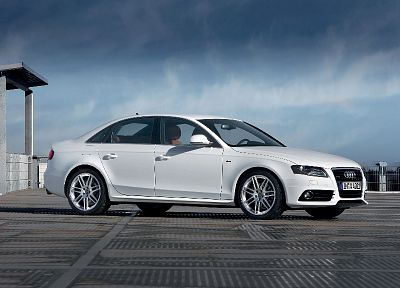 cars, Audi, Audi A4, white cars, German cars - random desktop wallpaper