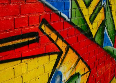 multicolor, wall, graffiti - random desktop wallpaper