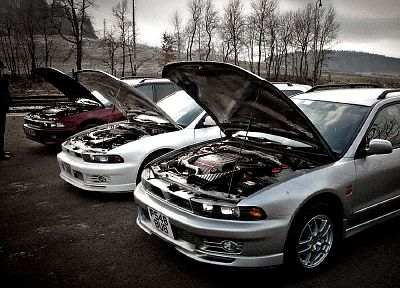 semi, vehicles, twin turbo, Mitsubishi Galant, automobiles, station wagon, Legnum - random desktop wallpaper