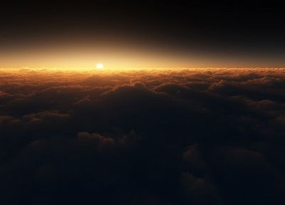 sunset, clouds, Sun, skyscapes - desktop wallpaper