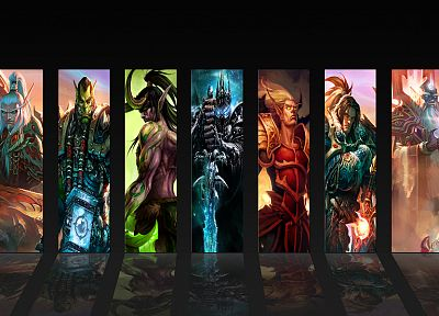 video games, World of Warcraft, Lich King, sylvanas, thrall, illidan, Illidan Stormrage, Arthas, Sylvanas Windrunner, Tyrande Whisperwind, Varian Wrynn, Warcraft, vol'jin - desktop wallpaper