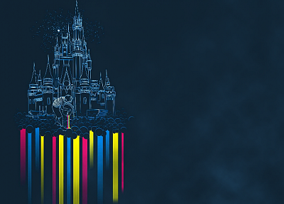 castles, rainbows - related desktop wallpaper
