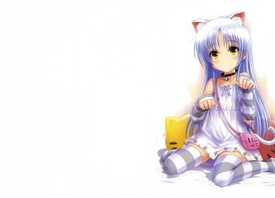 Angel Beats!, Tachibana Kanade, soft shading, white background - desktop wallpaper