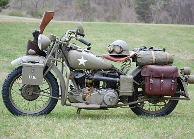 oldschool, World War II, motorcycles - random desktop wallpaper