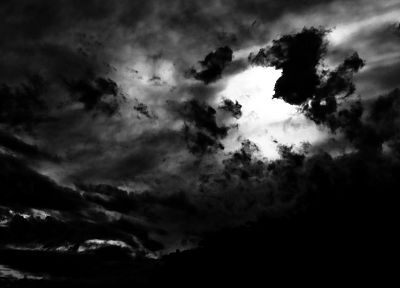 grayscale, skyscapes - random desktop wallpaper