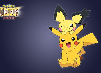 Pokemon, Pikachu, Pichu - random desktop wallpaper
