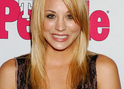 blondes, women, actress, Kaley Cuoco - related desktop wallpaper