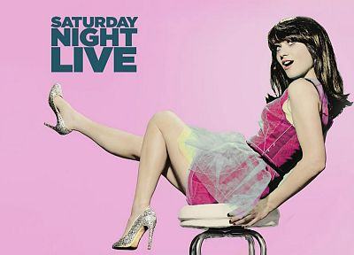 brunettes, women, Zooey Deschanel, Saturday Night Live - desktop wallpaper