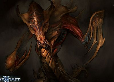 video games, StarCraft, Zerg, StarCraft II - random desktop wallpaper