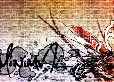 graffiti, street art, brick wall - random desktop wallpaper