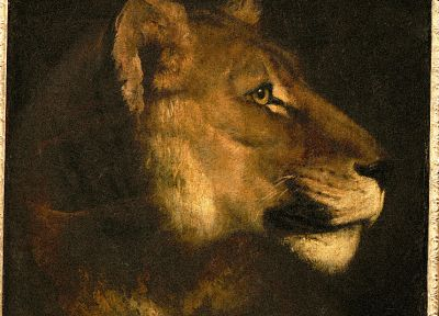 paintings, animals, lions, Theodore Gericault - related desktop wallpaper