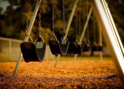 swings, playground - newest desktop wallpaper