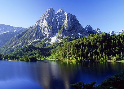 mountains, landscapes, nature, Spain, lakes, Alps - related desktop wallpaper
