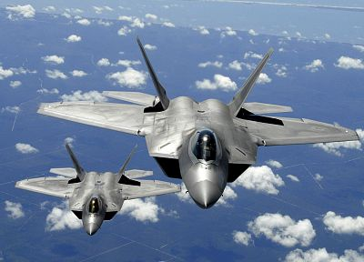 airplanes, F-22 Raptor, skyscapes, Lockheed/Boeing F-22 Raptor - random desktop wallpaper
