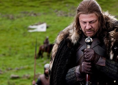 cloaks, Game of Thrones, A Song of Ice and Fire, Sean Bean, TV series, Eddard 'Ned' Stark, swords, George R. R. Martin, House Stark - related desktop wallpaper