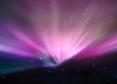 outer space, stars, aurora borealis - desktop wallpaper