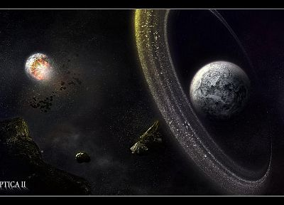 outer space, artistic, planets, digital art - related desktop wallpaper